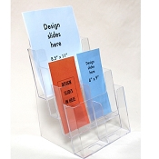 4-Tier Clear Plastic Brochure Holder for 8.5x11 or 4 x9