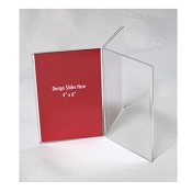 "4""w x 6""h Clear Three-Panel, Six-Sided Table Tent/Sign Holder"