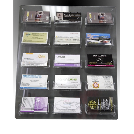 Clear Acrylic Wall Mounted Sign Holder 15 Business Card