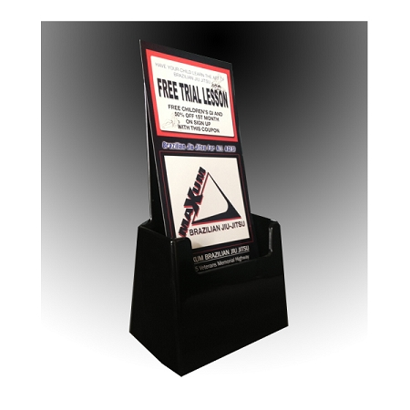 Black Acrylic Brochure Holder For 4 1 8 Quot W Literature