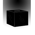 Large Black Acrylic Locking Ballot/Suggestion Box