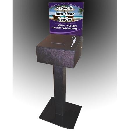 Deluxe Floor Standing Ballot Amp Contest Box Leadbox