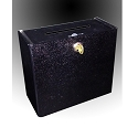 Black Wall Mount Locking Box - sign holder in front