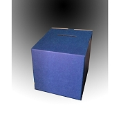 Extra Large Blue Cardboard Countertop Raffle Box