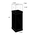 Acrylic Locking Ballot/Suggestion Box w/Floor Stand
