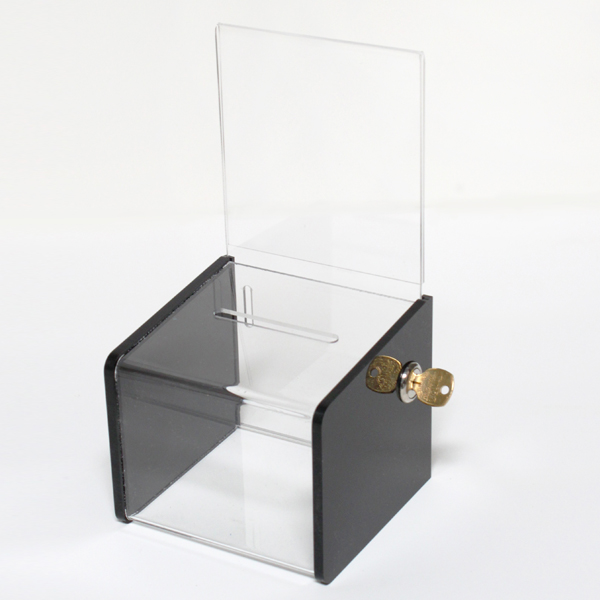 Acrylic Offering Boxes : Charity boxes collection donation low cost