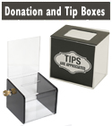 Donation Boxes and Tip Jars