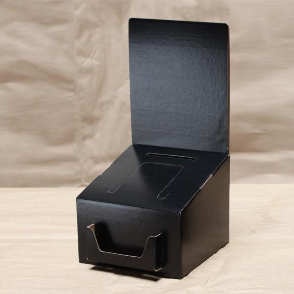 glossy black cardboard comment box