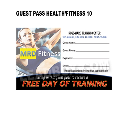 Guest Pass Health Fitness 10