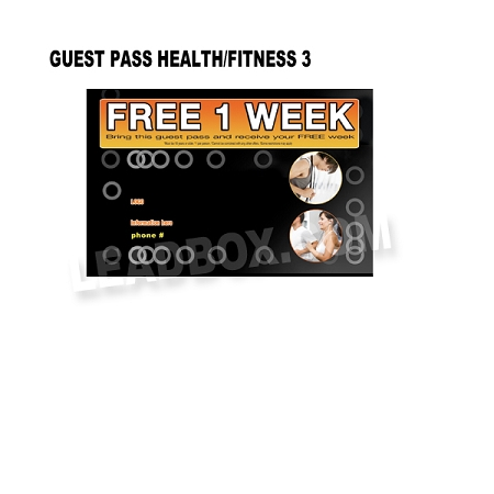 Guest Pass Health Fitness 3