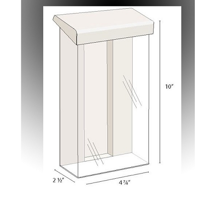 Heavy duty outdoor brochure holder for tri fold literature - Outdoor brochure holders for exterior use ...