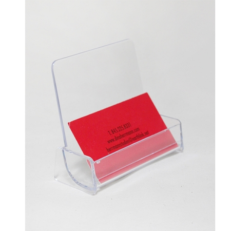 Clear acrylic business card holder tall for Clear plastic business card holder