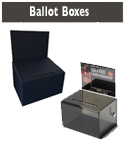 Cardboard or Plastic  Ballot Boxes