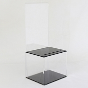 Acrylic Ballot Box with Black Top