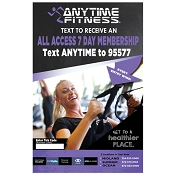 Custom Designed Anytime Fitness Poster 11 x17 with plastic wall mount sleeve (5 pack)