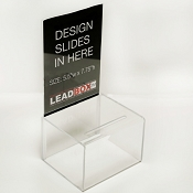 Plastic Donation Box with sign holder