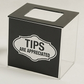 Tip box with graphics