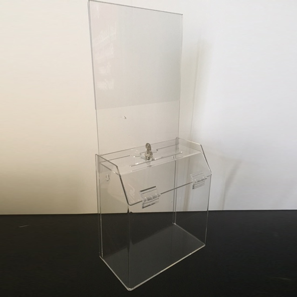 Clear Plastic Comment Box Wall Mount