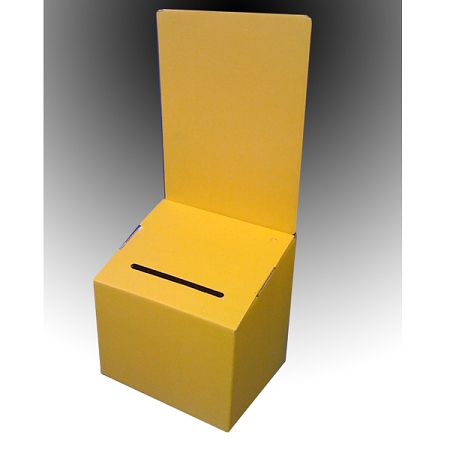 cardboard suggestion boxes