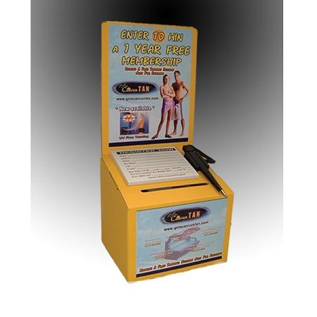 Cheap Ballot Box, Yellow Cardboard Suggestion Box at a low price