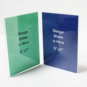 "5""w x 7""h Clear Book Style Table Tent/Sign Holder"