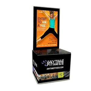 Acrylic Promo Box, includes Design Insert, Anytime Entry Pad & Security Pen (Orange)