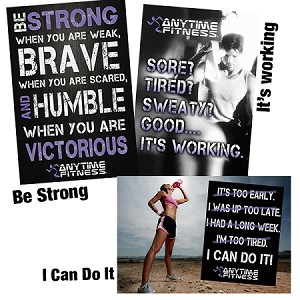 "Anytime Fitness Motivational  Poster - 20"" X 30"" - Photographic Print"