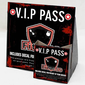 Cardboard Display Holders with Take One Passes. (Pack of 25 and 1000 take one passes)