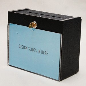 Wall Mount Suggestion Boxes With Lock And Sign Holder