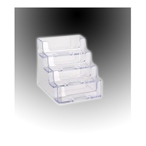 CLEAR 4-Tier Gift Card Display / Business Card Holder