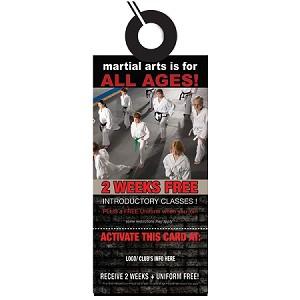 Door hanger design martial arts 12 we will customize it for 10000 door hangers