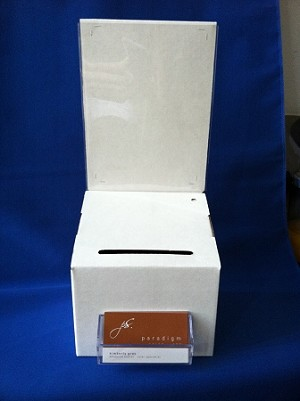 Business Card Holder For Cardboard Box