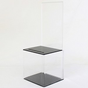 Clear Plastic Contest or Suggestion Box