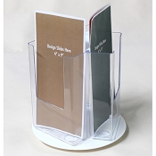 3-Pocket Rotary Counter Display for 4w Literature