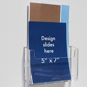 "Clear Acrylic Wall-Mount Brochure Holder for 5.75""w Literature (Tape Mount)"