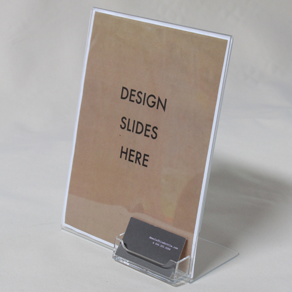 Brochure business card holders leadbox 85x11 plastic sign display with business card holder reheart Images