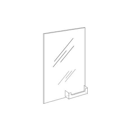8.5w x 11h Wall Mount Ad Frame/Sign Holder w/BuisnessCard Pocket ...