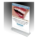 "8""w x 10""hClear Sign Holder / Ad Frame"