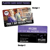 Anytime Plastic Card Guest Passes - All Access QTY: 500