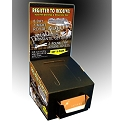 Ballot and Entry Box, Glossy Sweepstake box with business card holder and graphics