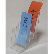 Clear Acrylic 4-Tier Brochure Holder for 4w Literature