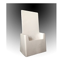 "White Acrylic Brochure Holder for 4-1/8""w literature"