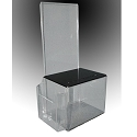 Plastic Ballot Box with Brochure Pocket