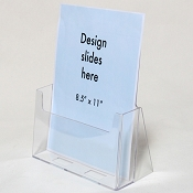 Clear Acrylic Brochure Holder for 8.5w Literature
