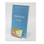5.5 x8.5 Display with guest pass or business card pocket