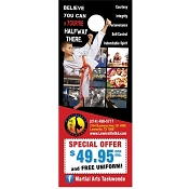 Door Hanger design martial arts 14 We will customize it for you