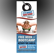 FitBody Boot Camp Custom Door Hangers - exclusively for FitBody Boot Camps(QTY 1000)