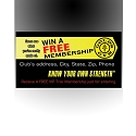 Gold's Gym Footer Decals Design 1 - adheres to the bottom front of Promo Box(REFILLS)