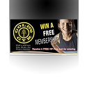 Gold's Gym Footer Decals Design 2 - adheres to the bottom front of Promo Box (REFILLS)