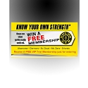 Gold's Gym Footer Decals Design 3 - adheres to the bottom front of Promo Box (REFILLS)